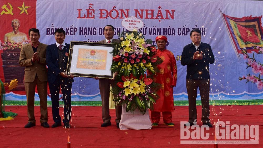 Đình Nguyễn, xã Việt Lập (Tân Yên) được công nhận di tích lịch sử văn hóa cấp tỉnh