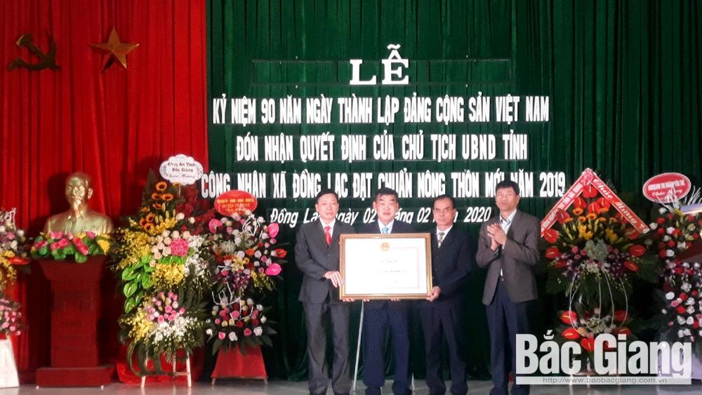 Xã Đồng Lạc đón nhận Quyết định đạt chuẩn nông thôn mới