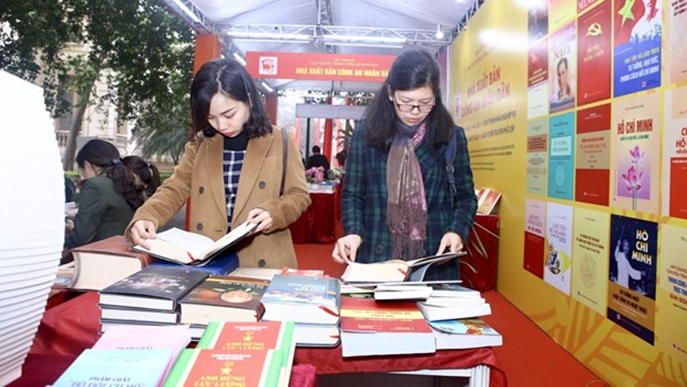 Hanoi book exhibition, Party's 90th anniversary, National Library of Vietnam,  national independence, international integration process