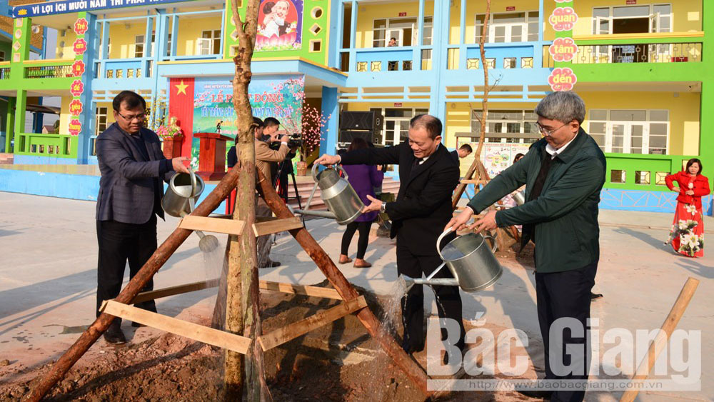 Tree planting campaign launched in Bac Giang's localities