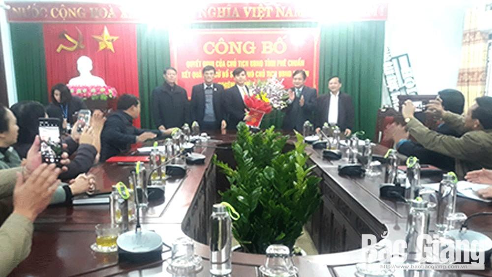 Yên Thế công bố Quyết định của Chủ tịch UBND tỉnh kết quả bầu bổ sung Phó Chủ tịch UBND huyện