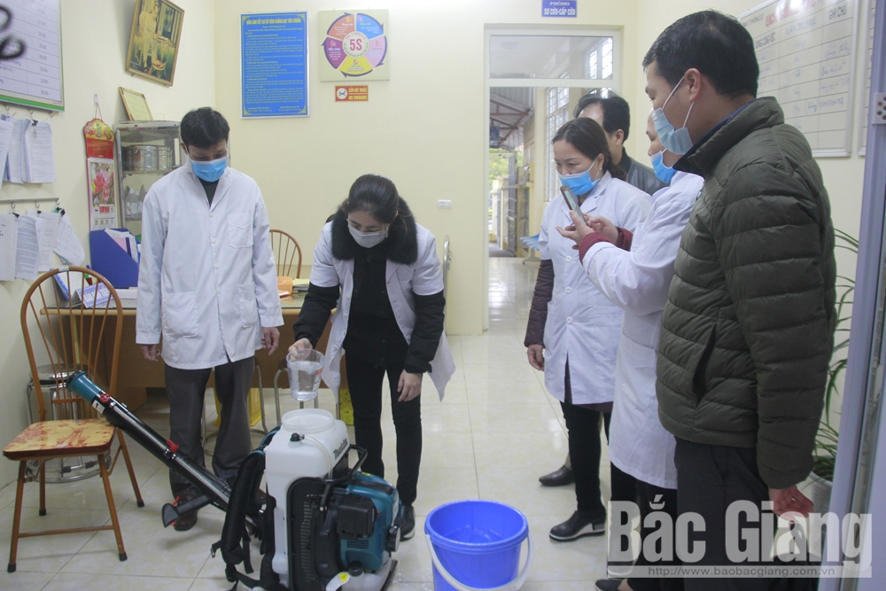 Bac Giang city, nCoV epidemic prevention, Bac Giang province, prevention and control, acute respiratory disease