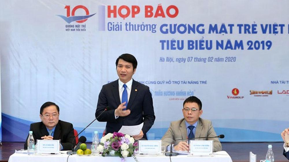 Công bố, 20 ứng viên, bình chọn, Gương mặt trẻ Việt Nam tiêu biểu, năm 2019