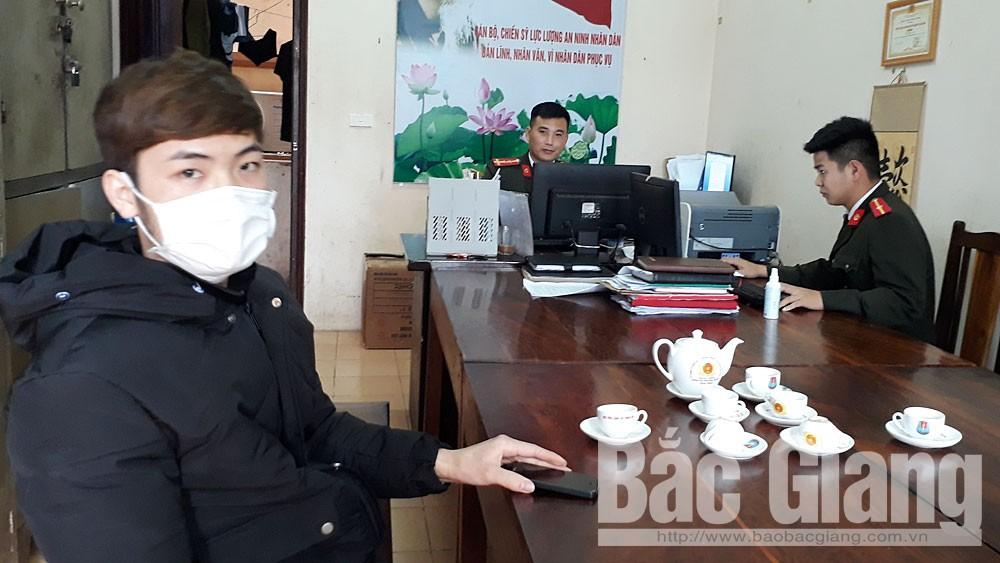 Công an huyện Lục Ngạn xử phạt đối tượng tung tin sai sự thật về dịch cúm corona