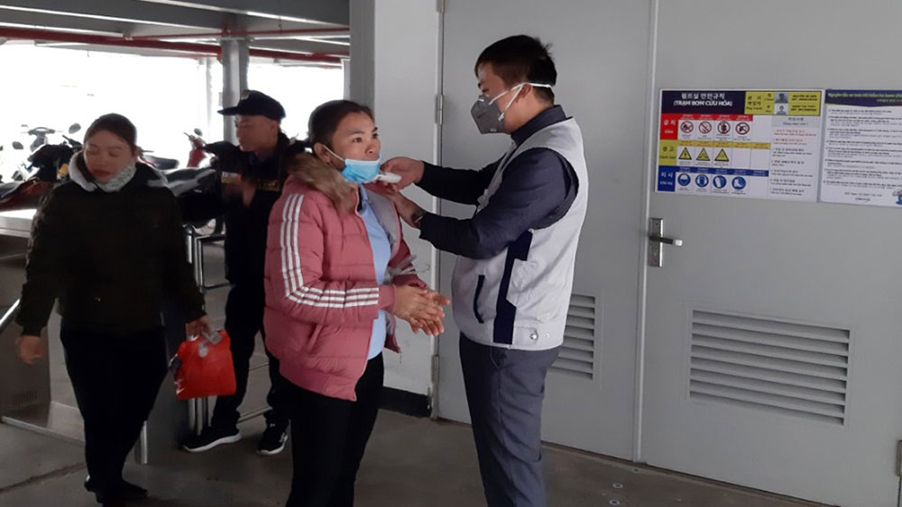 Enterprises in Bac Giang province actively control source of infection for acute respiratory epidemic