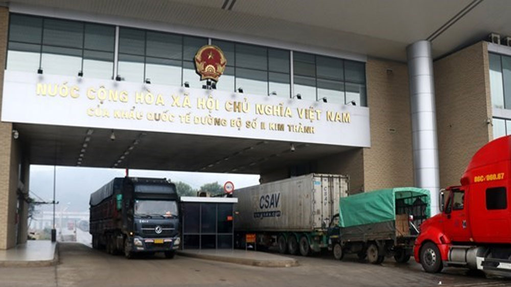 Vietnam, China, Kim Thanh International Border Gate No. 2, Novel Coronavirus, Vietnamese Farm Produce, Trucks, Quarantine Area, Chinese Drivers, Vietnamese Agricultural Products