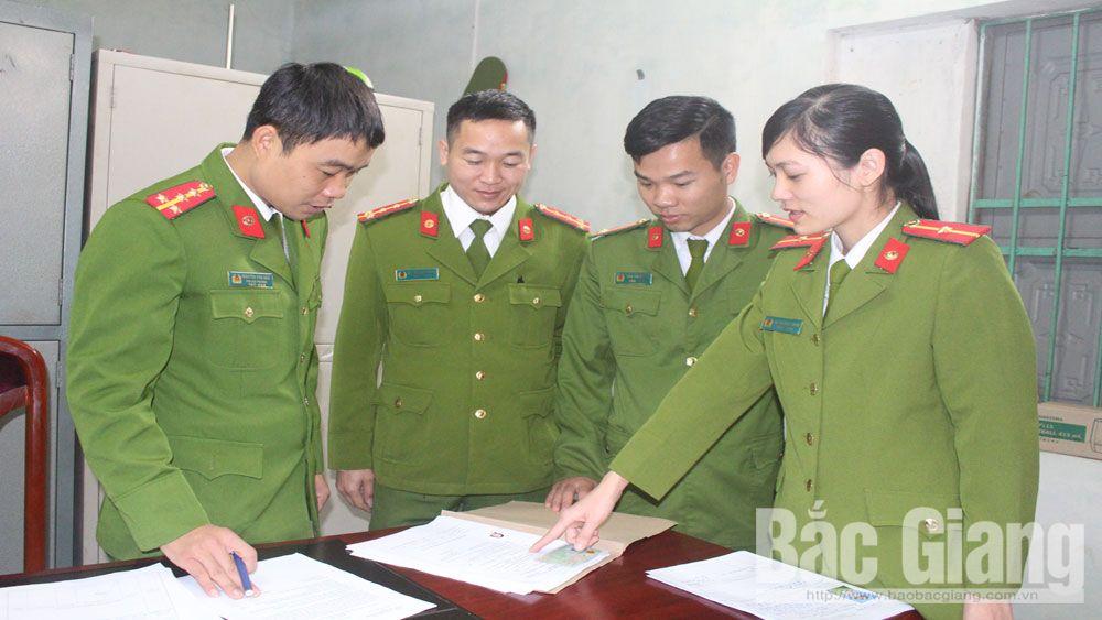 Thiếu úy Hà Thị Ngọc Trâm (SN 1993), cán bộ Công an xã Hương Sơn, huyện Lạng Giang, tỉnh Bắc Giang