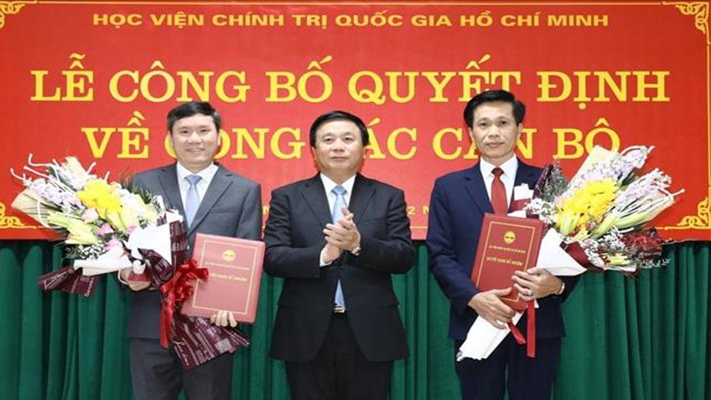 Công bố, quyết định, bổ nhiệm, hai tân phó giám đốc, Học viện Chính trị quốc gia Hồ Chí Minh,  Nguyễn Ngọc Hà
