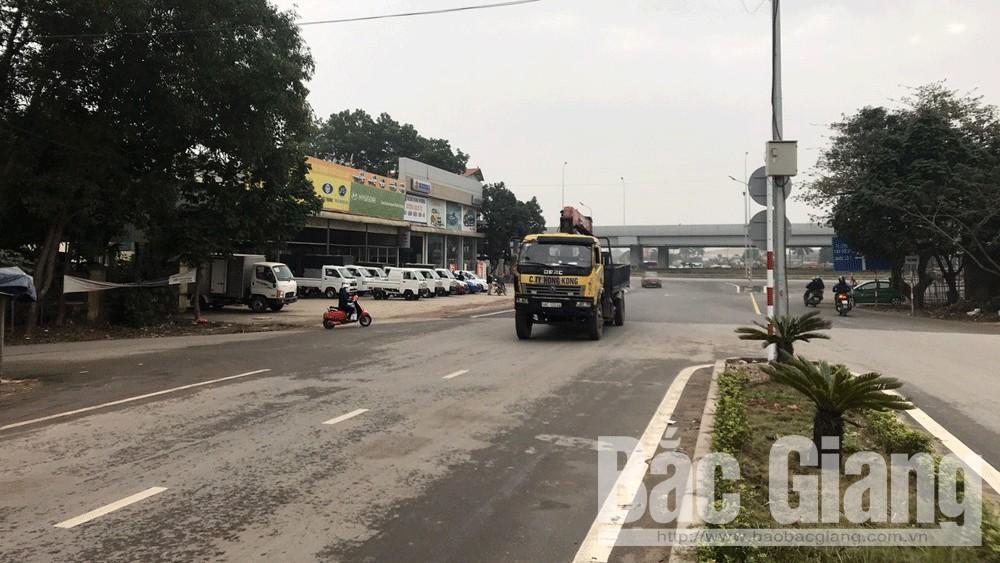 Khu vực giao nhau của nhiều tuyến đường ở cây xăng Kế (TP Bắc Giang).