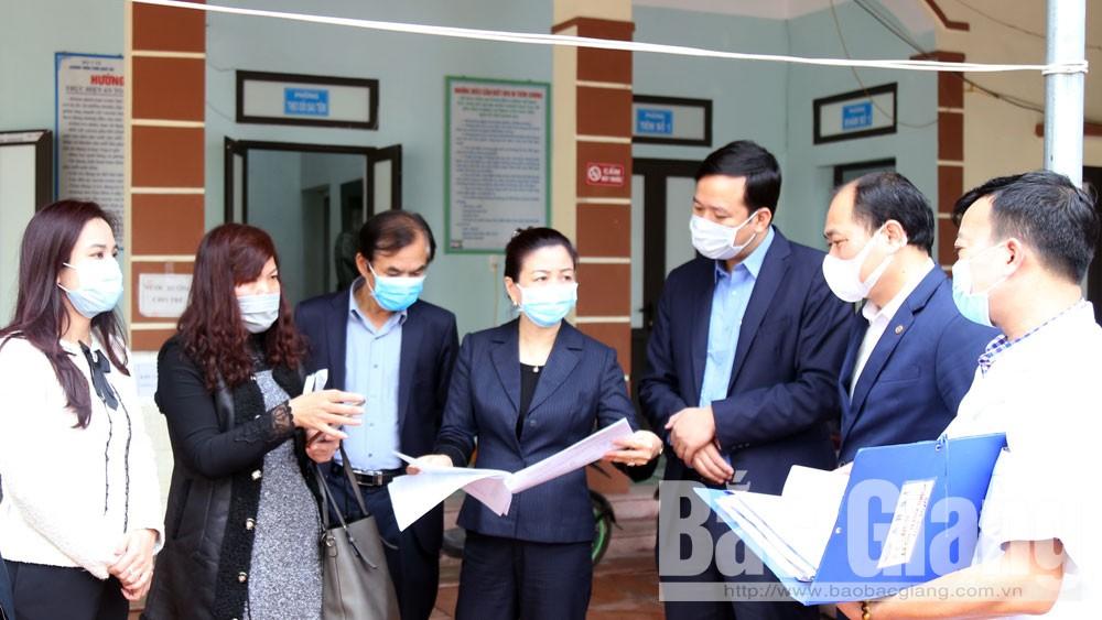 Tỉnh ủy Bắc Giang, Phó Bí thư Tỉnh ủy Lê Thị Thu Hồng, kiểm tra tại Việt Yên