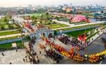 Đoàn rước lễ hội Xương Giang