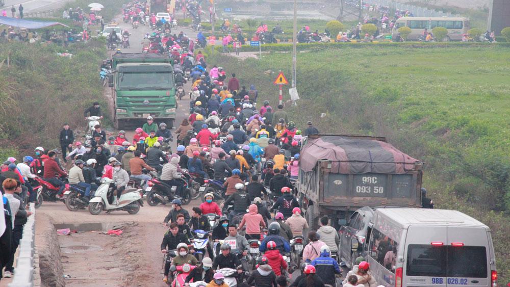 Khu công nghiệp, cầu vượt, giao thông, Bắc Giang, tắc nghẽn