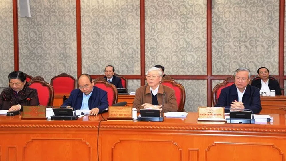 Tổng Bí thư, Chủ tịch nước, Nguyễn Phú Trọng, chủ trì, họp Bộ Chính trị