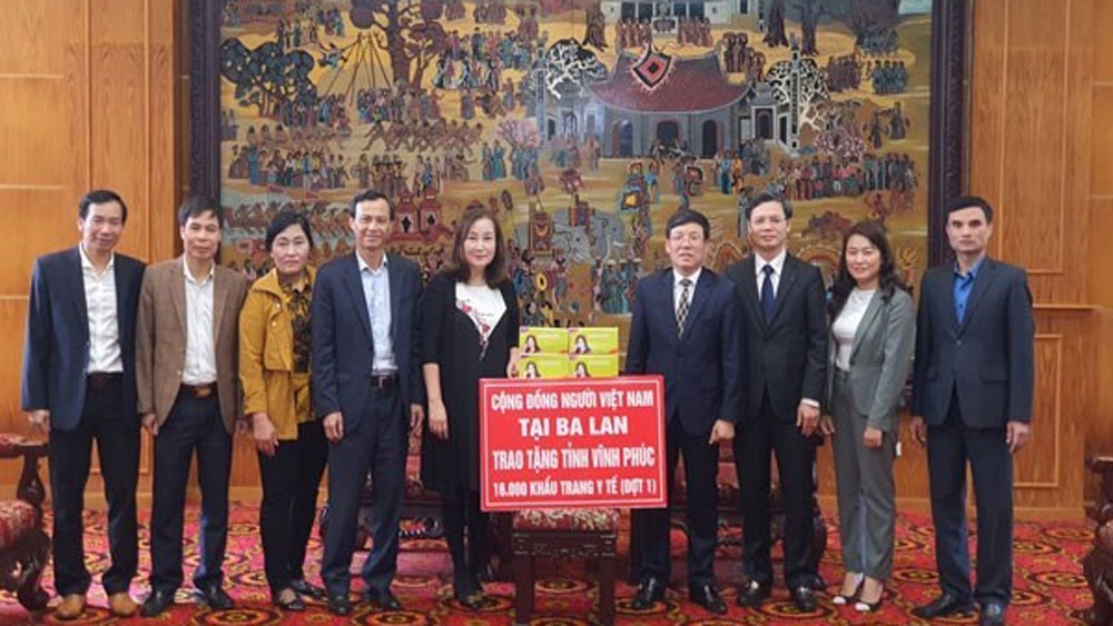 COVID-19, Coronavirus, NCoV, State Committee For Overseas Vietnamese Affairs, Vietnamese Association In Poland, Face Masks, Vinh Phuc province