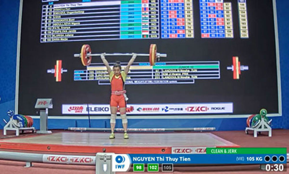 Vietnamese lifter, six golds, breaks world record, Asian youth & junior championships,  Do Tu Tung, weight categories