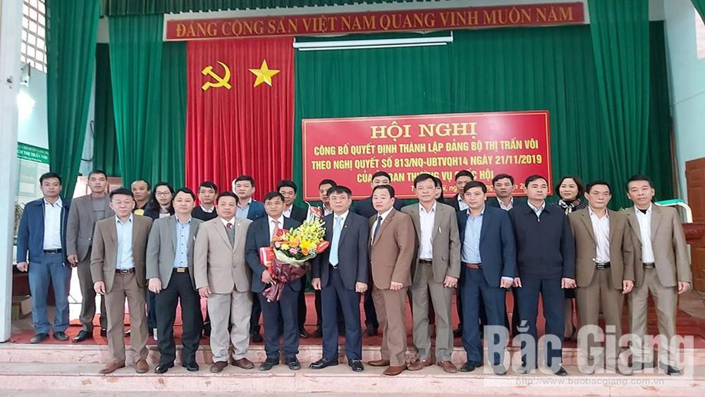 Huyện ủy Lạng Giang công bố quyết định thành lập 2 đảng bộ trực thuộc