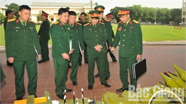 Quân khu 1 kiểm tra công tác chuẩn bị huấn luyện tại Bắc Giang