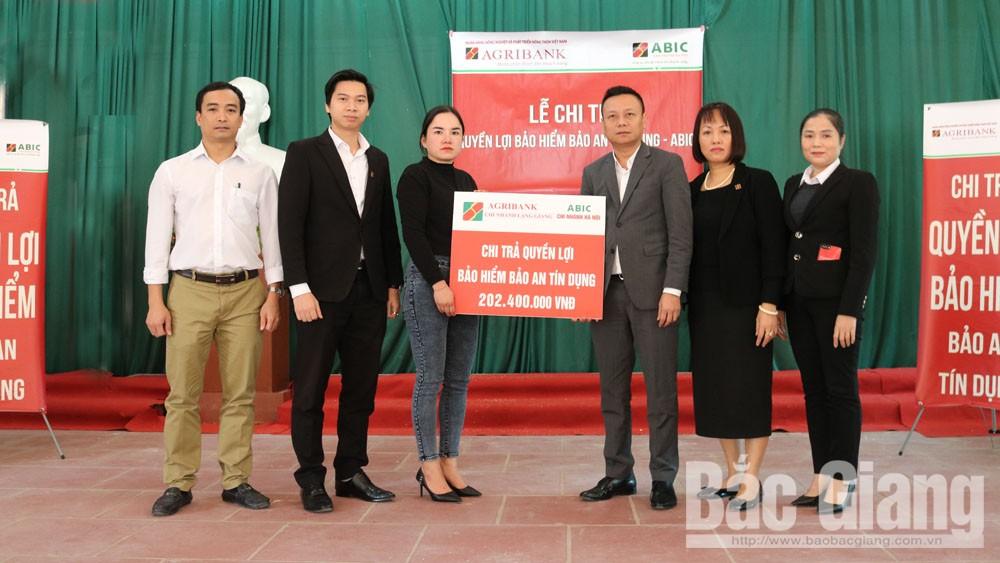 Bắc Giang: Chi trả 202,4 triệu đồng tiền bảo hiểm Bảo an tín dụng cho một khách hàng