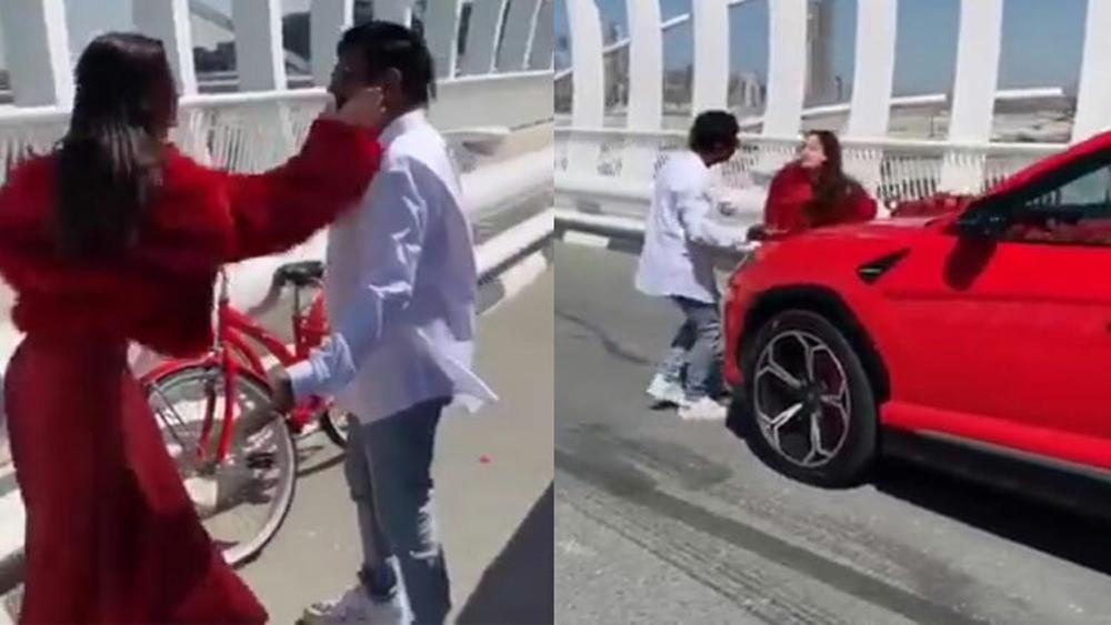 """Người đẹp đánh bạn trai vì được tặng """"siêu xe"""""""