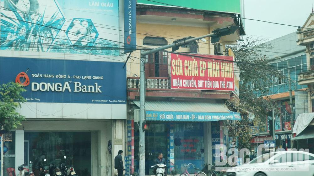 Dịch vụ chuyển, rút tiền, Bắc Giang
