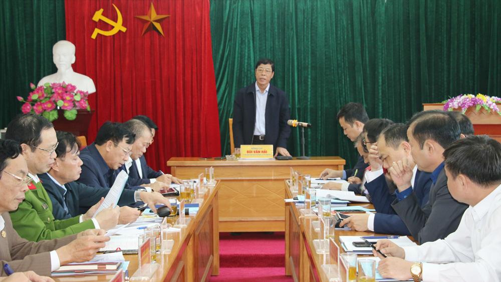 Bí thư Tỉnh ủy Bùi Văn Hải chỉ đạo: Việt Yên phải làm tốt công tác quy hoạch đô thị và phát triển công nghiệp
