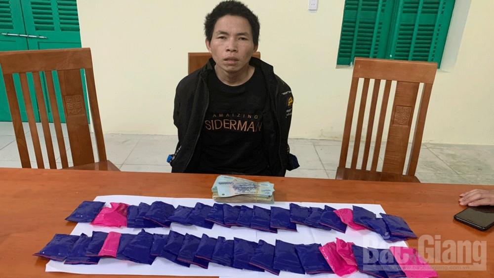 Công an Bắc Giang, Tàng trữ trái phép ma túy, Công an Bắc Giang bắt đối tượng bán ma tuý; Ma túy