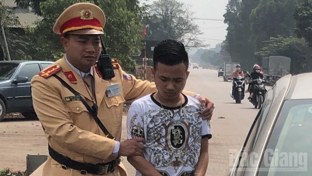 cảnh sát giao thông Bắc Giang, Công an huyện Tân Yên, bắt đối tượng vận chuyển ma tuý, Ma túy