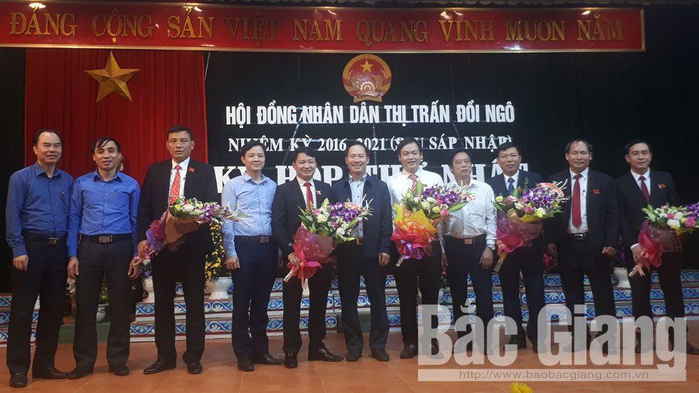 HĐND thị trấn Đồi Ngô (Lục Nam) bầu các chức danh chủ chốt sau sáp nhập
