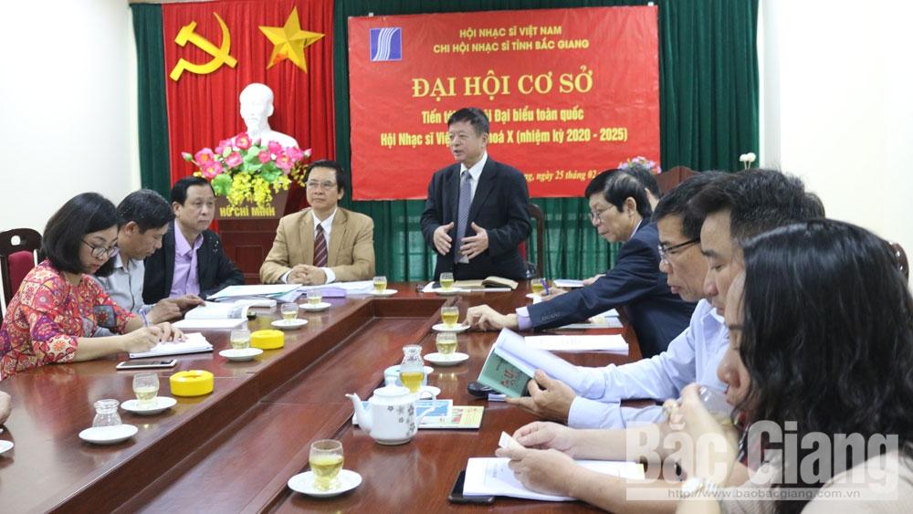 Đại hội cơ sở Chi hội Nhạc sĩ Việt Nam tỉnh Bắc Giang