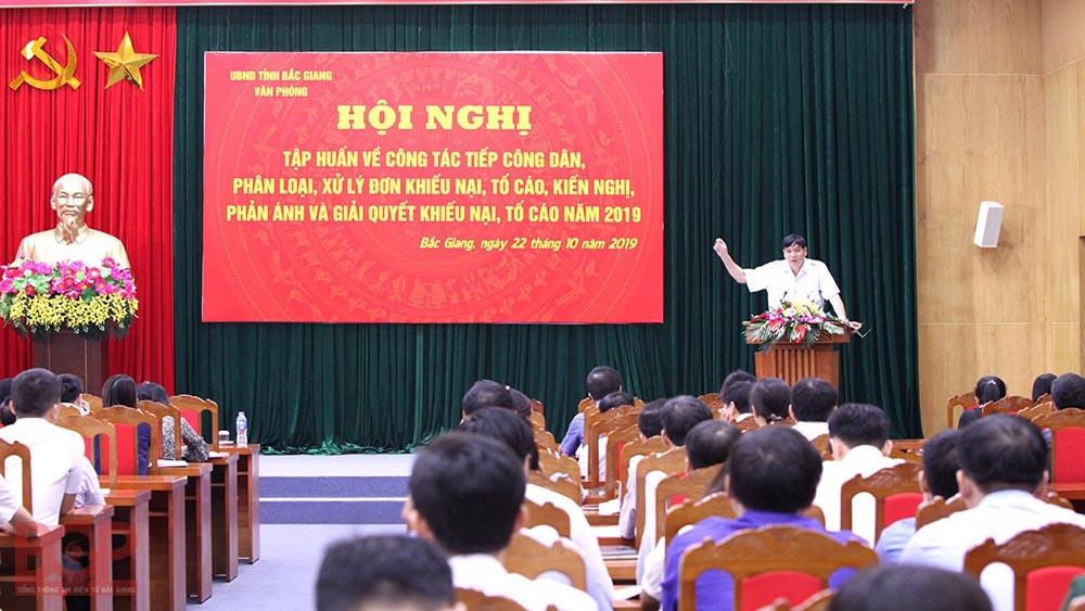 Bắc Giang xếp loại trách nhiệm người đứng đầu trong tiếp công dân, giải quyết khiếu nại, tố cáo