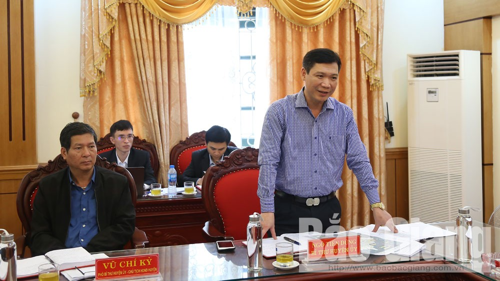 PPC Secretary, Bui Van Hai, Hiep Hoa district, motivation area, economic development, Bac Giang province, socio-economic development, prevention of Covid-19