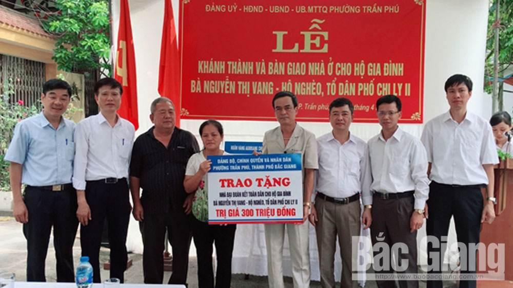 cấp ủy, thành phố Bắc Giang, hộ nghèo,