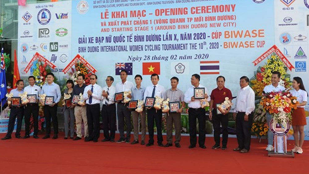 Binh Duong, int'l women cycling tournament, kicks off, Biwase Cup 2020,  opening ceremony, sport tournament events