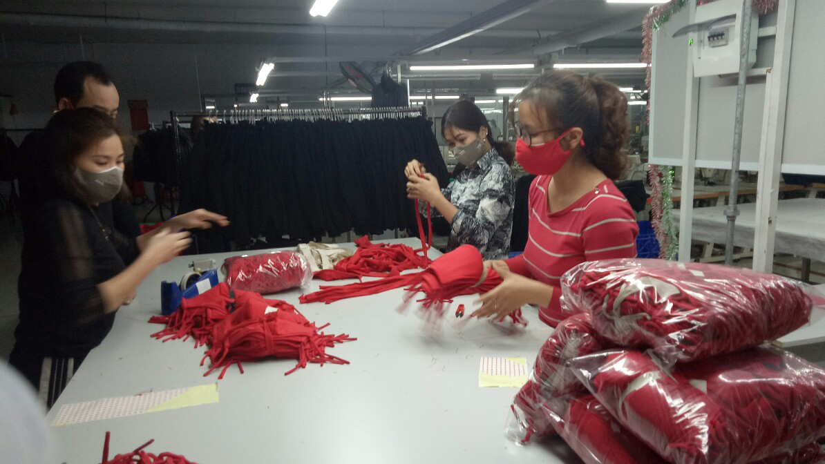 Bac Giang province, BGG Garment Coporation JSC, antibacterial face masks, complicated development of Covid – 19,  medical face mask,  antibacterial function