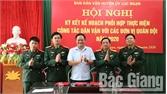 Phối hợp thực hiện công tác dân vận với các đơn vị quân đội