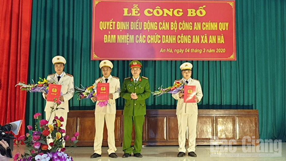 Việt Yên, Lạng Giang hoàn thành đưa công an chính quy về công tác tại xã, thị trấn