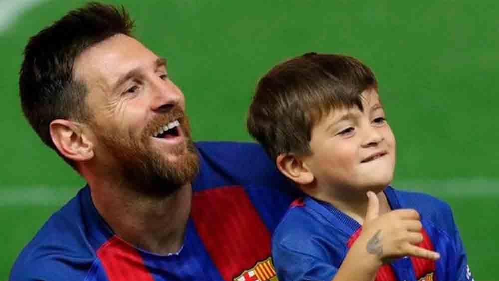 Phát lộ tài ghi bàn sớm, con trai Messi gây sốt