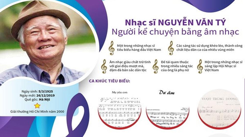 Nhạc sĩ Nguyễn Văn Tý và những tình khúc vượt thời gian