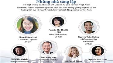 Forbes Việt Nam công bố những gương mặt trẻ có ảnh hưởng tích cực