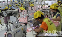 Bắc Giang: 5/10 doanh nghiệp đã cho lao động đi làm trở lại bình thường