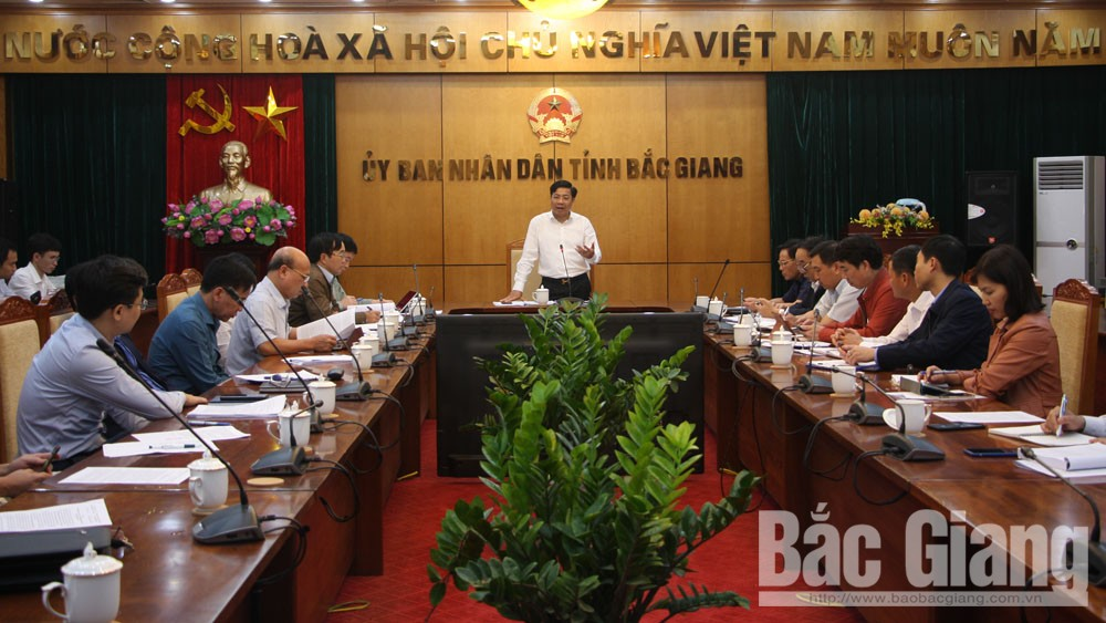 PPC Chairman of Bac Giang province Duong Van Thai directs to remove obstacles for investors