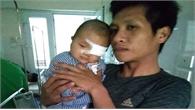 Bắc Giang: Cháu bé mới sinh bị u máu cần được giúp đỡ
