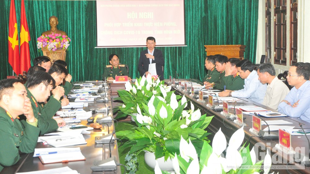 Bac Giang province, well prepares, Covid-19 affected area,  Prevention and Control,  Military Zone 1, Covid-19 patient