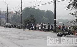 Bắc Giang: Va chạm với ô tô, người đi xe máy tử vong
