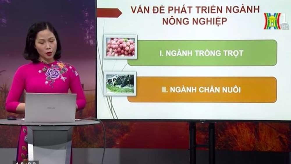 Lịch phát sóng chương trình dạy học trên truyền hình Hà Nội tuần tới