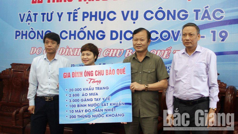 Bắc Giang: Một gia đình tặng số lượng lớn vật tư y tế phòng, chống dịch Covid-19