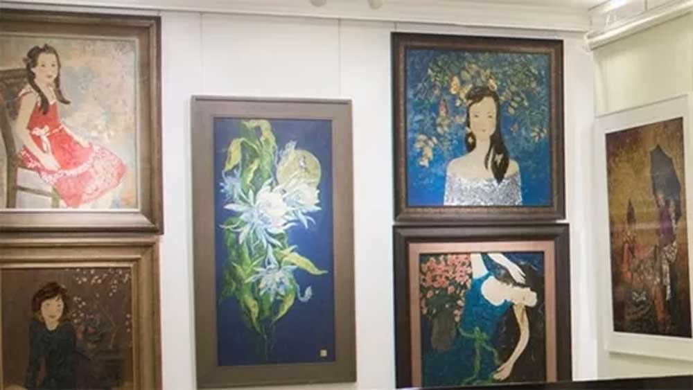 Unique painting, Vietnamese lacquer paintings, famous Vietnamese painters, beautiful lacquer art works, cultural identities
