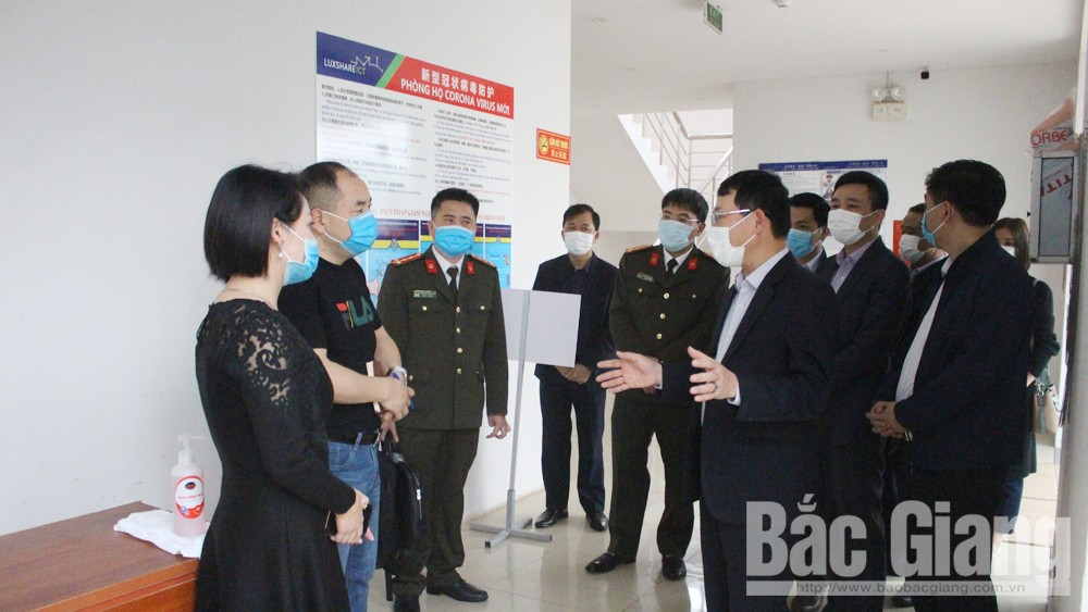 Bac Giang province, foreign laborers, industrial parks, Covid-19 Prevention and Control, field trip,  medical test