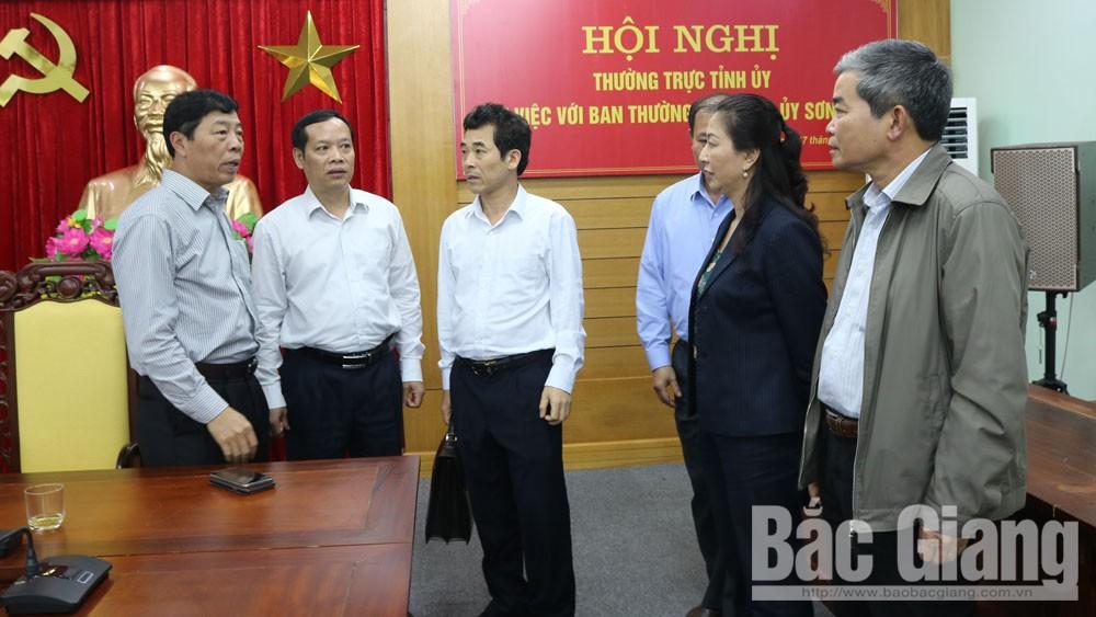 Làm việc với BTV Huyện ủy Sơn Động, Bí thư Tỉnh ủy Bùi Văn Hải chỉ đạo: Tập trung phát triển kinh tế rừng, chuẩn bị tốt nhân sự đại hội Đảng