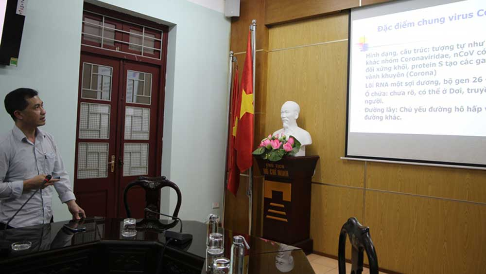 Bac Giang province, online instruction, Covid-19 diagnosis and treatment, online training course, disease prevention and control, medical facilities